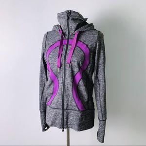 LULULEMON Hooded Stride Jacket in Charcoal/Violet